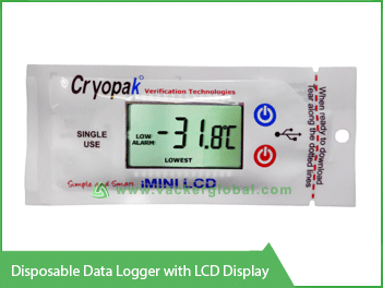 Disposable Data Logger with LCD display Vacker KSA