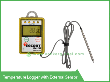 Temperature Logger with External Sensor Vacker KSA