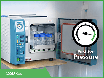 cssd room positive pressure monitoring